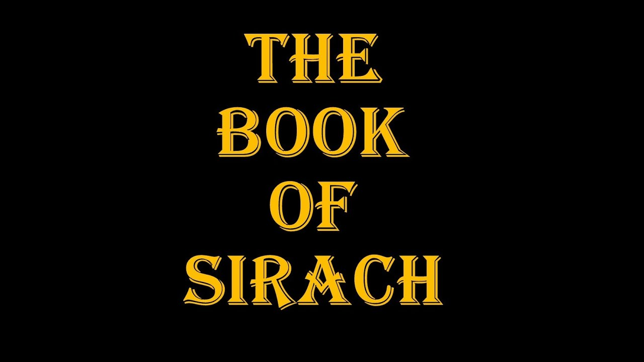 the book of sirach pdf