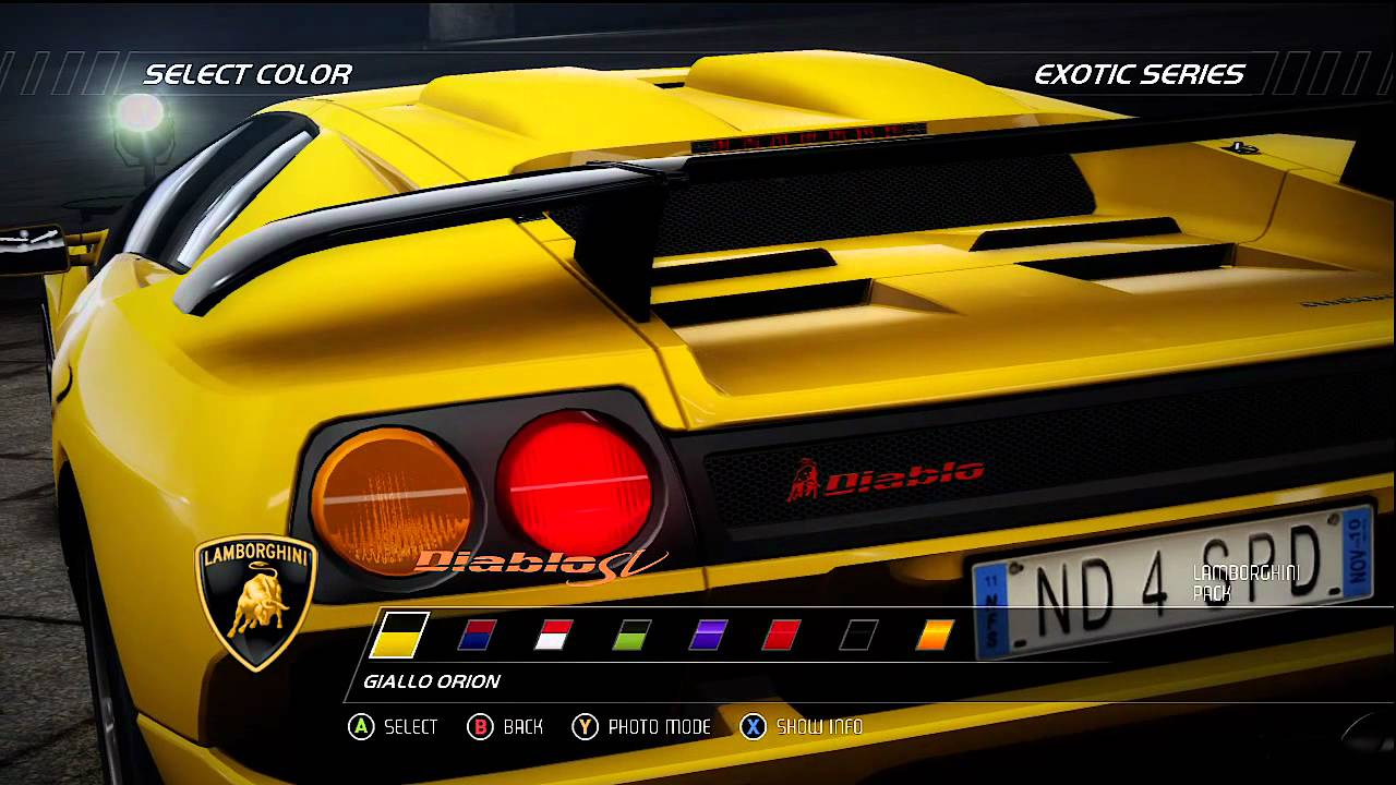nfs hot pursuit lamborghini diablo sv showcase hd youtube. Black Bedroom Furniture Sets. Home Design Ideas