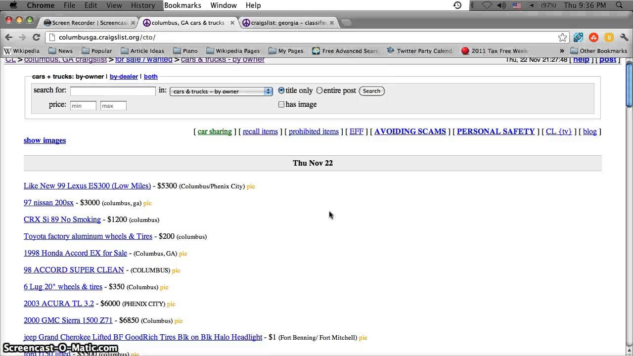Craigslist Columbus GA Used Cars - Best For Sale by Owner ...