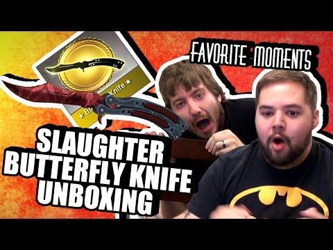 CS:GO SLAUGHTER BUTTERFLY KNIFE UNBOXING | Danz Favorite Moments