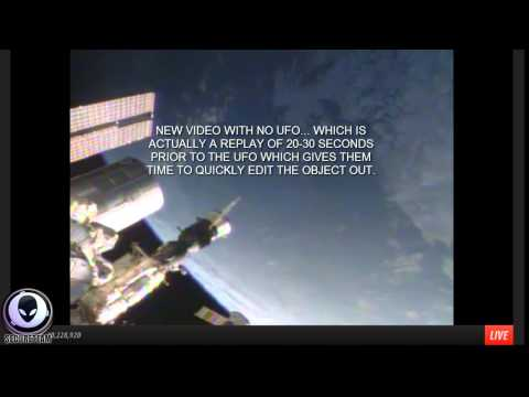 7/8/2014 BUSTED! NASA EDITS GIANT SAUCER UFOS ABOVE EARTH IN LIVE FEED - Aliens