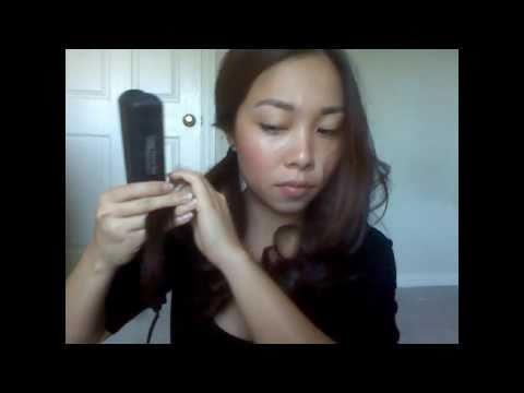 Làm tóc xoăn bằng máy ép (Kiểu 1)