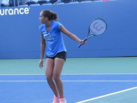 Madison Keys Practice at the 2013 US Open