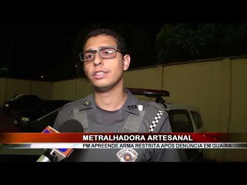 17/04/2018 - Polícia Militar apreende metralhadora no Bairro Miguel Fabiano em Guaíra