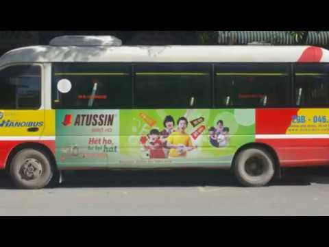 Siro ho ATUSSIN quảng cáo trên xe bus tại Hà Nội [SSM.VN]