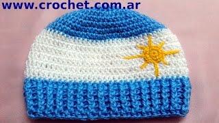 Gorro Argentino En Tejido Crochet Tutorial Paso A Paso