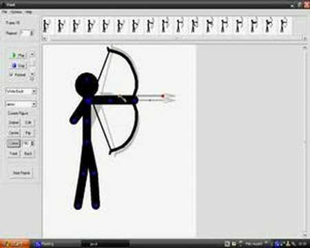 Stickman with bow and arrow