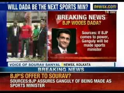 NewsX:Saurav Ganguly offered BJP ticket to contest 2014 LS polls: reports