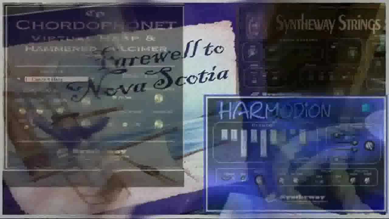 Farewell To Nova Scotia: Harmodion Accordion, Chordophonet Virtual Harp, Syntheway Strings, Flute - YouTube