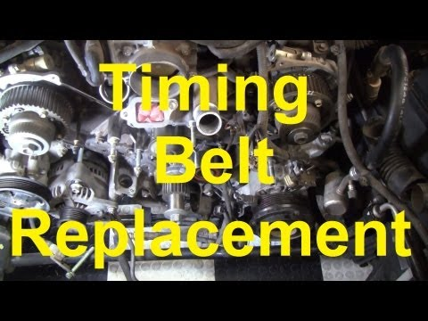 Замена ремня ГРМ на двигателе 2UZ-FE