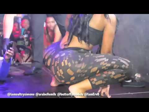 Sultry Simone Gives Fan A Lap Dance & Twerking On Stage In Germany!