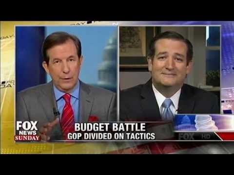 Sen. Ted Cruz on Defunding Obamacare with Chris Wallace on Fox News Sunday