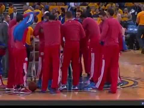 NBA's Players hold silent protest against owner Donald Sterling - 28 April 2014