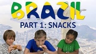 German Kids try Brazilian Snacks (Part 1)