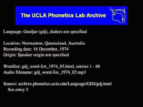 Gurdjar audio: gdj_word-list_1974_03