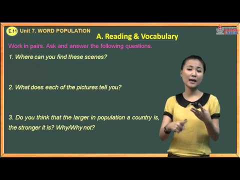 Kiểm tra tiếng Anh lớp 11 - Unit 7. World Population - Reading And Vocabulary
