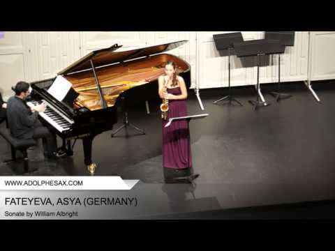 Dinant 2014 - Fateyeva, Asya (Sonate by William Albright)