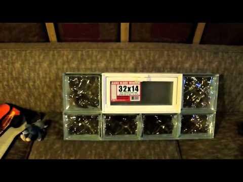installing a basement glass block window diy youtube