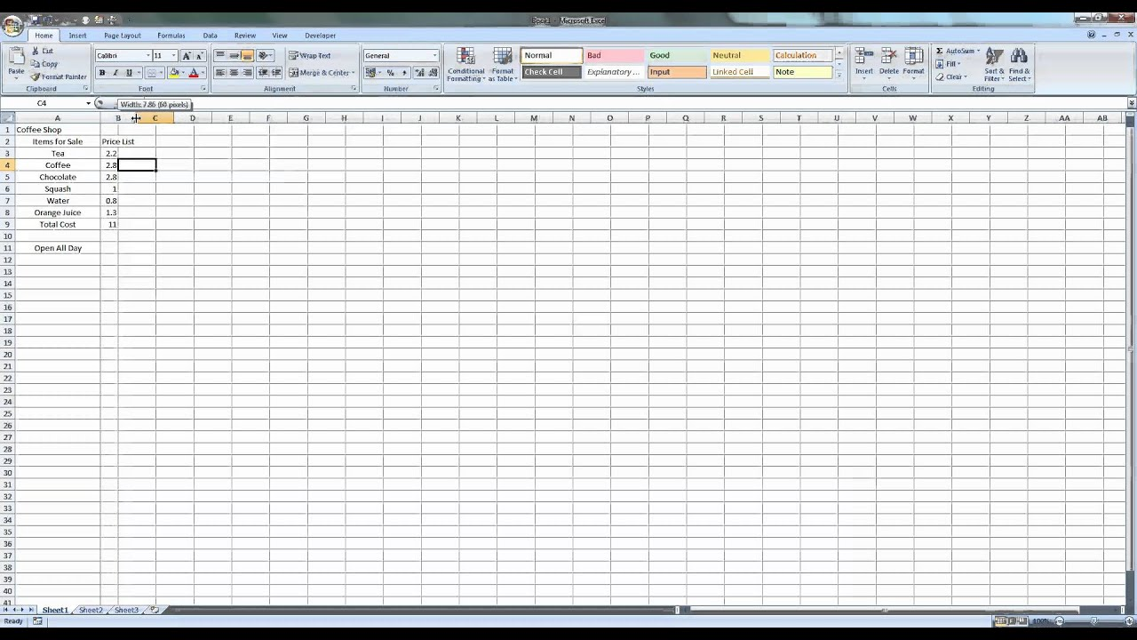 microsoft excel 2007 basic tutorial pdf
