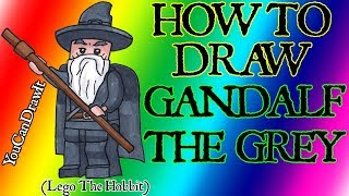How To Draw Gandalf The Grey From Lego The Hobbit & Lord