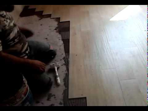 come posare le piastrelle 15x60 effetto legno hd - YouTube