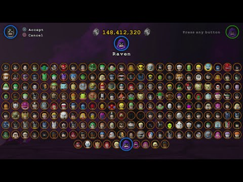 LEGO Batman 3 - All 217 Playable Characters Unlocked (ALL 9 DLC PACKS - Complete Grid)