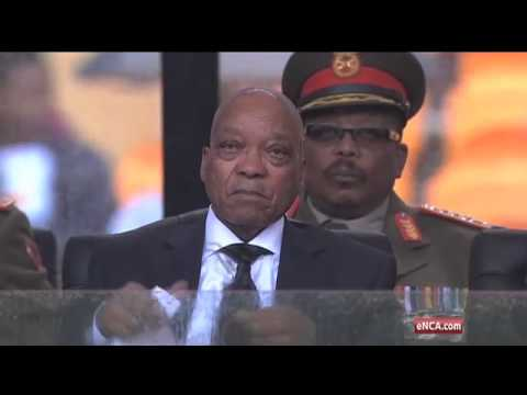 FNB Stadium crowd cheers Motlanthe, Mbeki, boos Zuma
