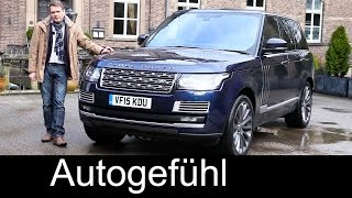 Range Rover SV Autobiography top version V8 550 hp FULL REVIEW test driven new neu