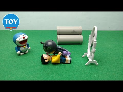 Nobita tặng quà Xuka kem chống nắng  - hoạt hình doremon chế đồ chơi trẻ em tập 34
