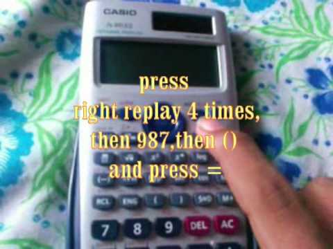 casio calculator tricks