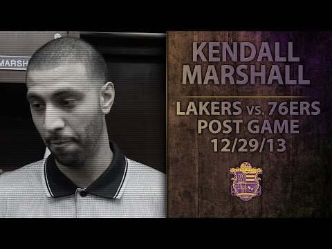 Lakers vs. 76ers: Kendall Marshall On Aggressiveness, Knocking Down Shots As A Laker