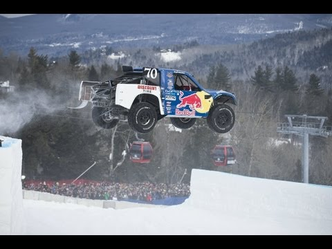Pro4 Truck racing through snow and ice - Red Bull Frozen Rush 2014
