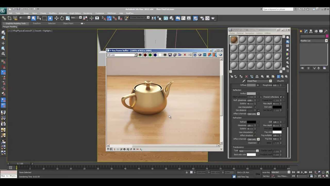 3ds Max Tutorial Wood Floor Vray Material Youtube