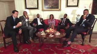 The Miami Heat At The White House: Healthy Tips From NBA