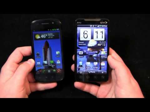 Google Nexus S vs. HTC EVO 4G Dogfight Part 1