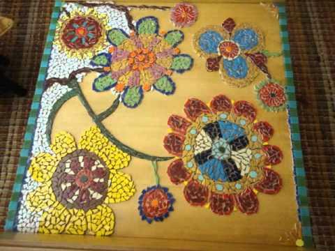 Mesa de mosaico em azulejo youtube for Mosaicos de azulejos en paredes