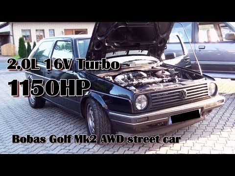 Brutal Golf Mk2 1150HP 16V Turbo Acceleration from Boba-Motoring!!! Fu