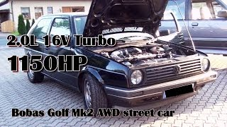 Brutal Golf Mk2 1150HP 16V Turbo Acceleration From Boba