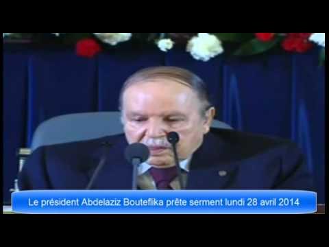 Abdelaziz Bouteflika prête serment et discours -خطاب عبد العزيز بوتفليقة 28/04/2014