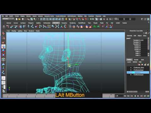 Basic bipedal character rigging setup in Maya - Part 2 of 7