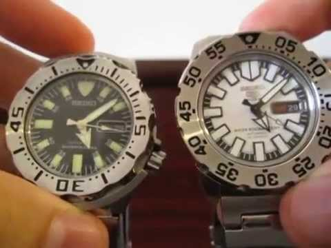 Comparison Seiko Monster vs. Baby Monster