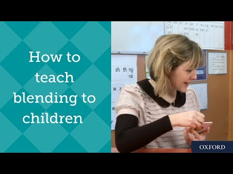 Phonics tutoring with Ruth Miskin - how to teach blending to children.