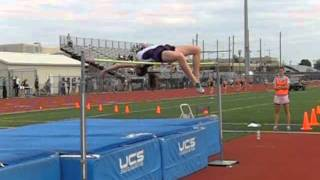 """5'8"""" Girls High Jump MN Section 6AA 1.72m Slow Motion 210"""