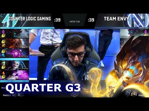 CLG vs Team EnVyUs | Game 3 Quarter Finals S7 NA LCS Summer 2017 Play-Offs | CLG vs NV G3 QF