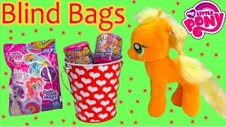 MLP Applejack Pony Valentines Tin Set Fash'ems Blind Bags