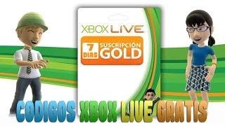 XBOX LIVE Gold Códigos De 7 Días Gratis [CERRADO