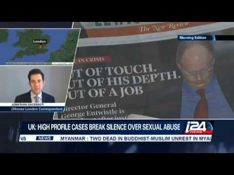 Jonathan Sacerdoti on i24news reporting on Rolf Harris and historic child sex abuse in the UK