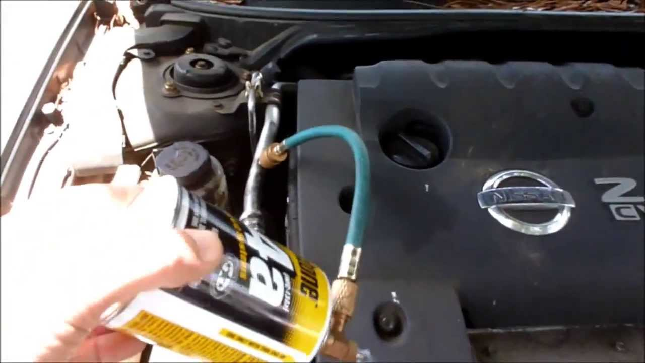 add freon to nissa altima 2 5l ac system