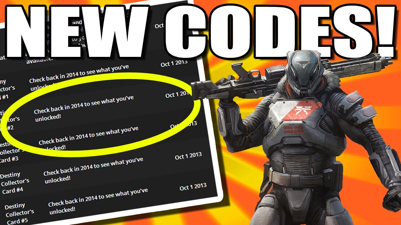Destiny news new redeemable codes youtube