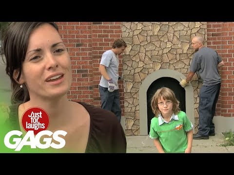 Kid Disappears In Brick Wall Prank image